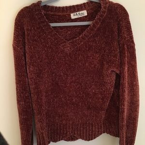 Burnt orange/red sweater - Selfie Couture